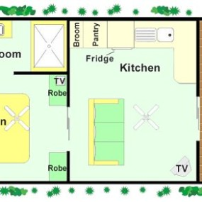Durras Beach Couples Villas floor plan